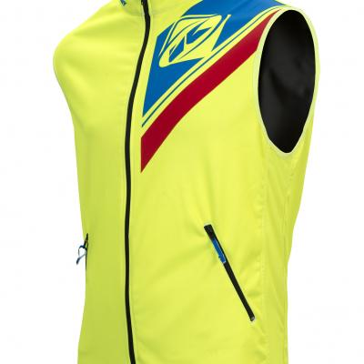 Body Warmer Enduro Kenny Jaune Fluo / Bleu / Rouge