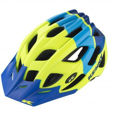 Casque Vélo Kenny K2 Jaune Fluo / Bleu