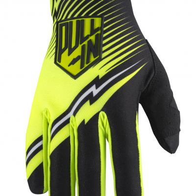 Destockage: Gants Motocross Pull-In Challenger Noir / Jaune Fluo 2017 Taille 10
