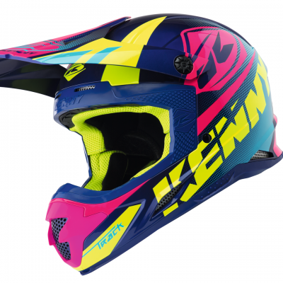 Casque Kenny Motocross Track Blue / Pink 2018