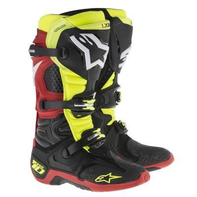 Bottes alpinestars tech 10 rouge jaune