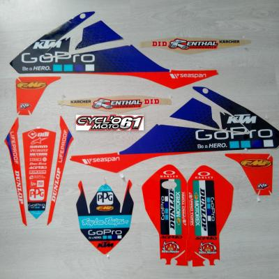 Déco: Kit déco Cplet N-Style Officiel Troy lee design KTM SX+F 125/250/350/450 2016 à 2018
