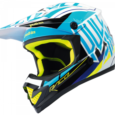 Casque  Motocross Pull-In Cyan 2018