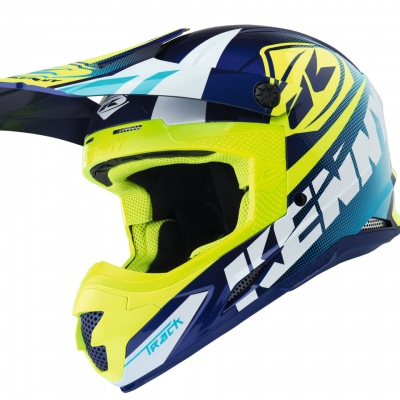 Casque Kenny Motocross Track Cyan / Neon Yellow 2018