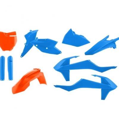 Full kit plastic ktm sxsxf 16 18 blue orange