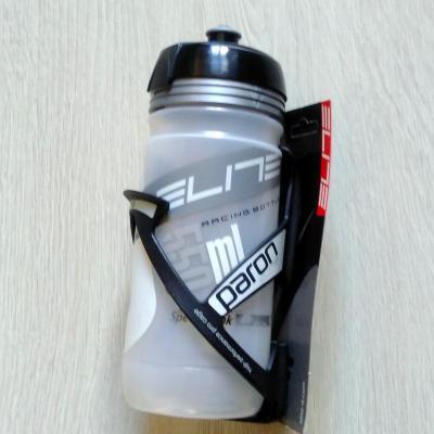 Porte + Bidon vélo Elite Paron Noir-gris 550ml