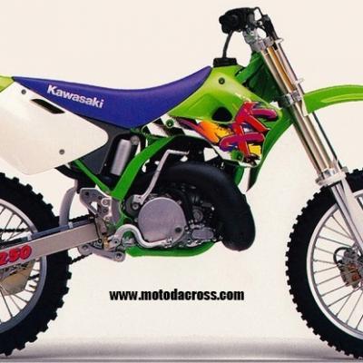 Kawasaki kx 250 1993 1994 1995 1996 1997