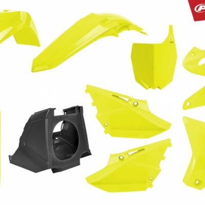 Kit plastiques polisport jaune yz