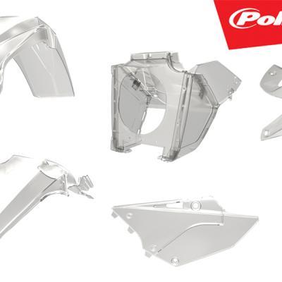 Kit plastiques polisport transparent yz