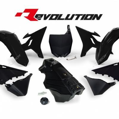 Kit plastiques racetech revo noir reservoir yz