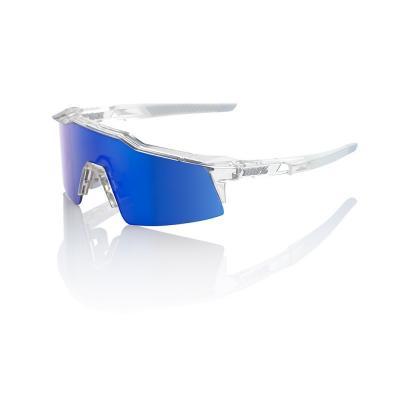 Lunettes 100% SpeedCraft Short - Aurora transparent - Ecran miroir bleu