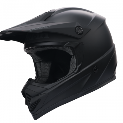 Casque  Motocross Pull-In Noir Mat 2018