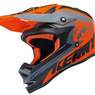 Casque Motocross enfant Kenny Performance Matt Grey / Orange 2018