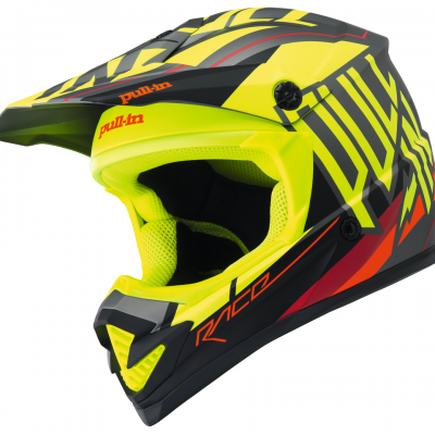 Casque  Motocross Pull-In Matt Neon Yellow 2018