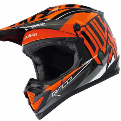 Casque  Motocross Pull-In Orange 2018