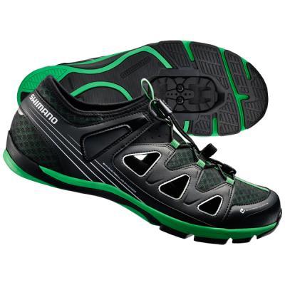 Chaussures Shimano Loisir CT46 Noir/Vert 44
