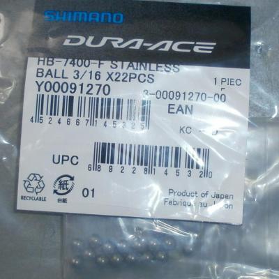 Sachet de 22 billes de roulements de roue vélo 4,76mm Shimano