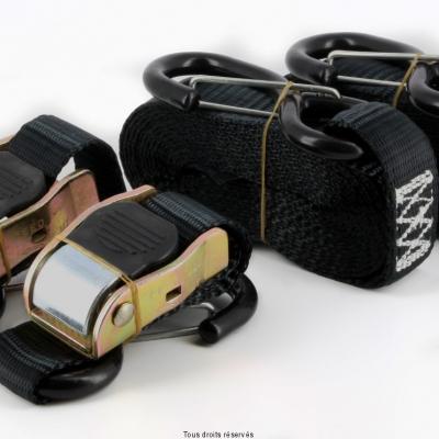 2 Sangles Moto avec Crochet Sécurité 25mm X 3.6 Mètres
