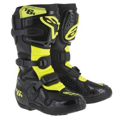 Bottes Motocross Alpinestars Tech 6 enfant Noir / Jaune fluo