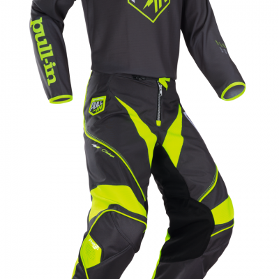 Tenue  Motocross Pull-In Challenger Grey / Lime 2018