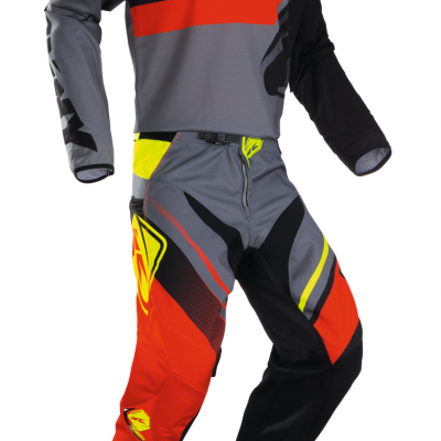 Tenue Motocross enfant Kenny Track Grey / Orange 2018