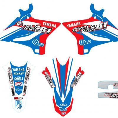 Déco: Kit déco Cycl'o moto 61 Yamaha Bleu/Rouge