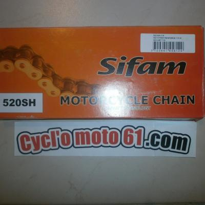 Transmission: Chaine Ultra renforcé 520-SH Sifam (118 maillons)
