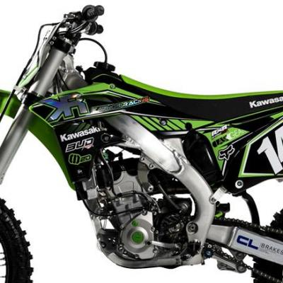 Déco: Kit déco Kawasaki Replica Team Kaanos 2016