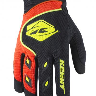 Gants motocross kenny Track Noir / Orange 2018
