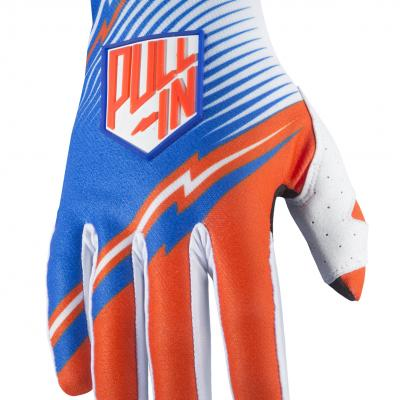 Destockage: Gants Motocross Pull-In Challenger Bleu / Orange