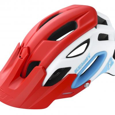 Casque VTT Kenny S3 Blanc/Rouge