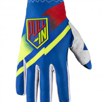Destockage : Gants Motocross Pull-In Challenger Bleu