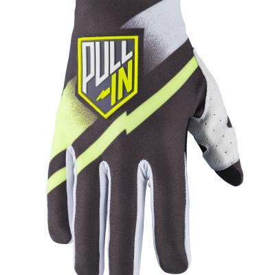 Gants motocross enfants Pull-In Challenger grey / lime