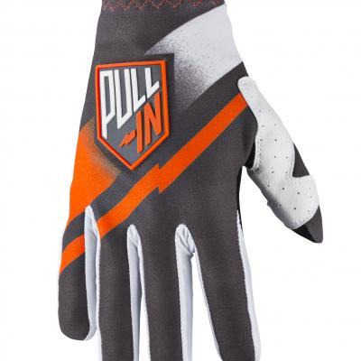 Destockage : Gants Motocross Pull-in Challenger Gris / Orange