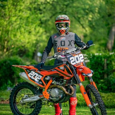 Déco: Kit Déco Personnalisable Réplica PRP Orange KTM SX/SXF 2016 à 2018