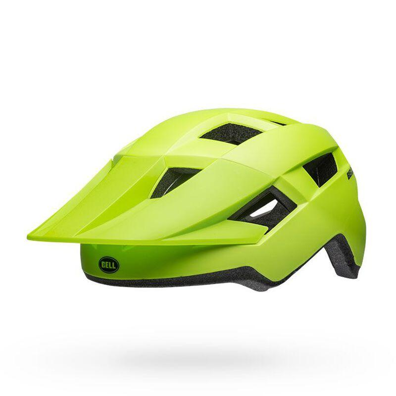 Bell spark mips mountain bike helmet matte bright green black front left