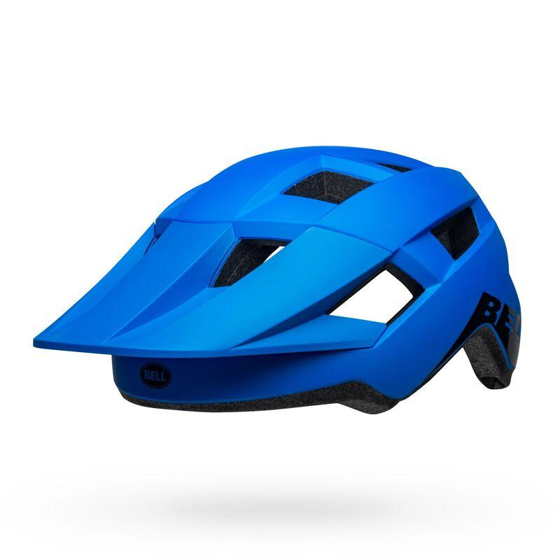 Bell spark mips mountain bike helmet matte gloss blue black front left 1