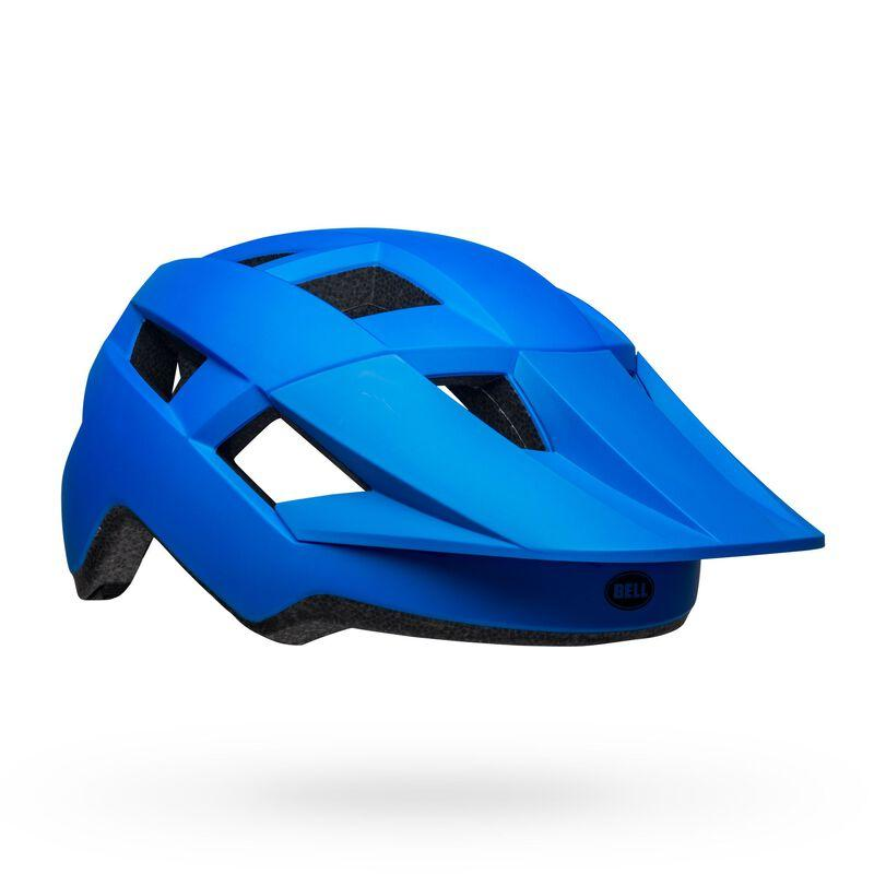 Bell spark mips mountain bike helmet matte gloss blue black front right
