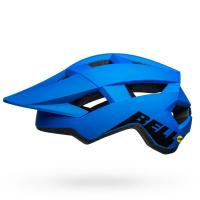 Bell spark mips mountain bike helmet matte gloss blue black left