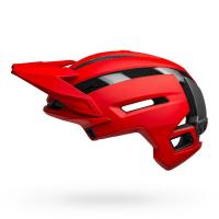 Bell super air spherical mountain bike helmet matte gloss red gray left