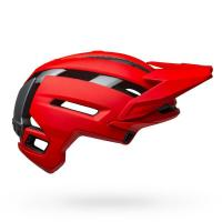 Bell super air spherical mountain bike helmet matte gloss red gray right