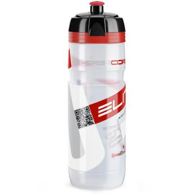 Bidon / Gourde Elite Supercorsa Bio Transparent Logo Rouge 750ml (BPA free)