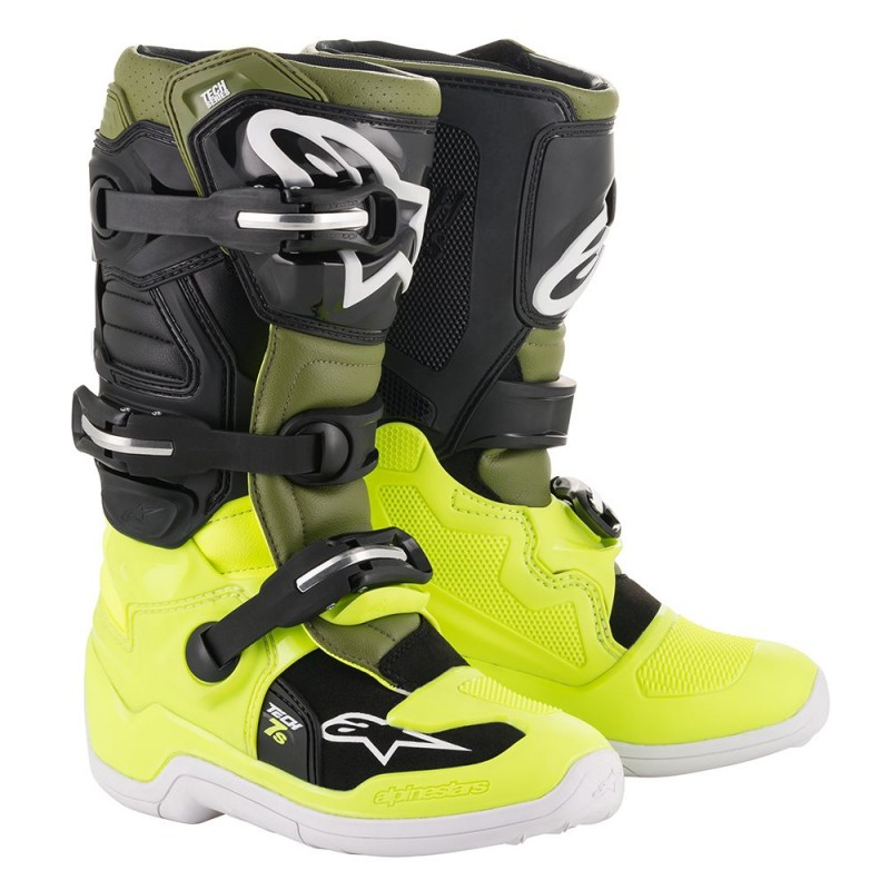 Botte tech7 noir jaune kaki