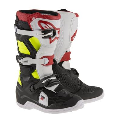 Botte tech7 noir rouge jaune