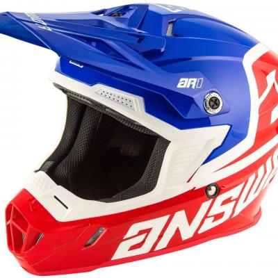Casque Motocross ANSWER  AR1 Bleu / Blanc / Rouge