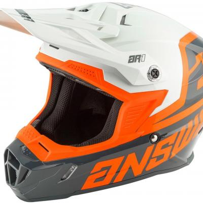 Casque Motocross enfant ANSWER AR1 Orange / Gris
