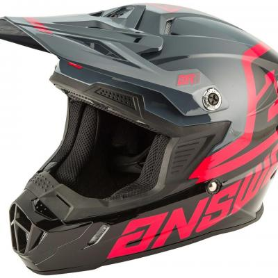 Casque Motocross ANSWER  AR1 Rose / Gris / Noir
