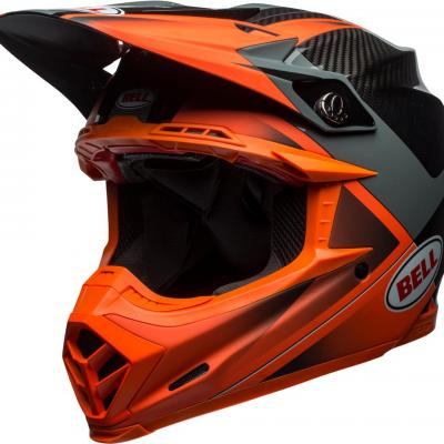 Casque bell moto 9 flex gloss matte orange 1