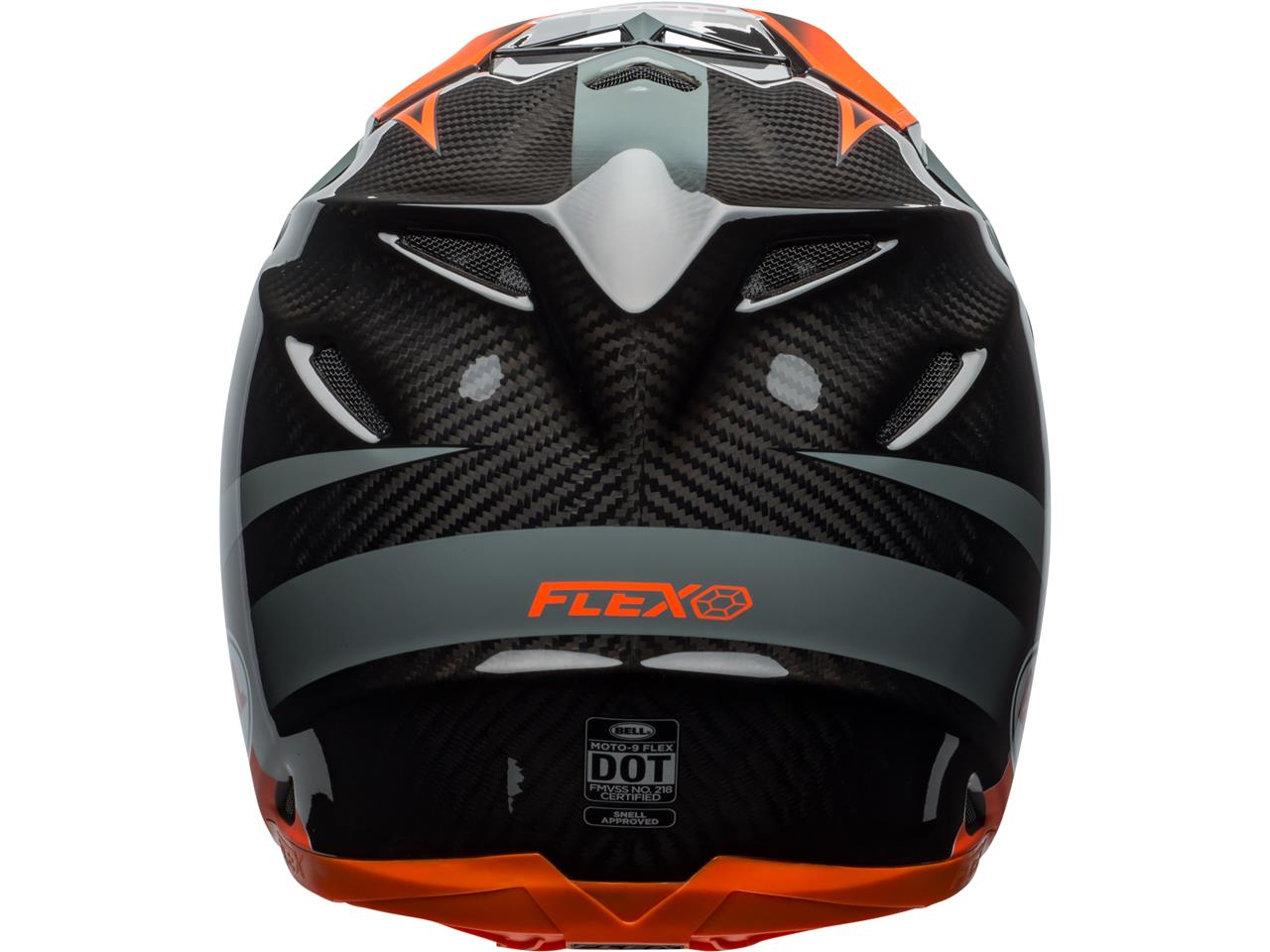 Casque bell moto 9 flex gloss matte orange 2