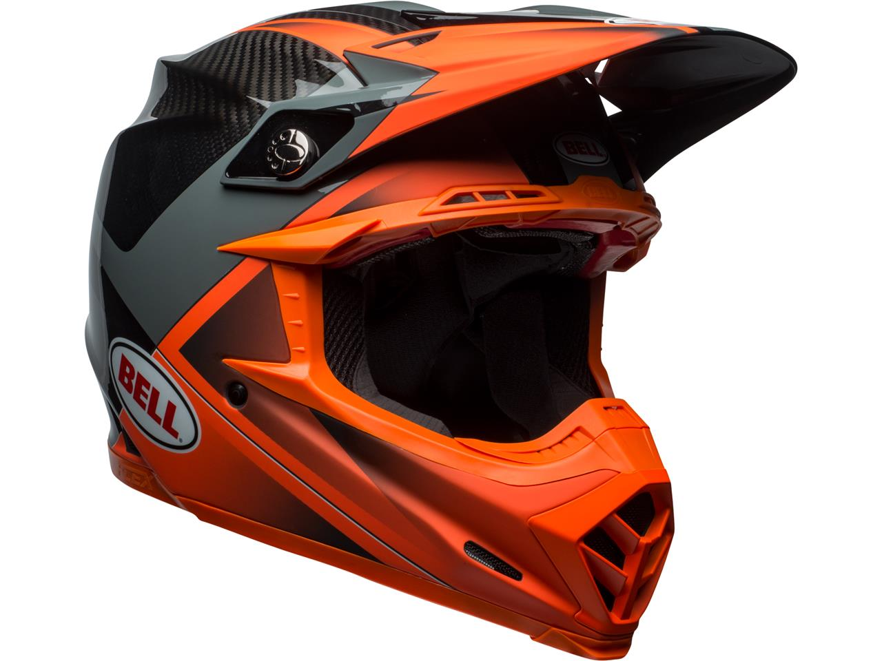 Casque bell moto 9 flex gloss matte orange 3